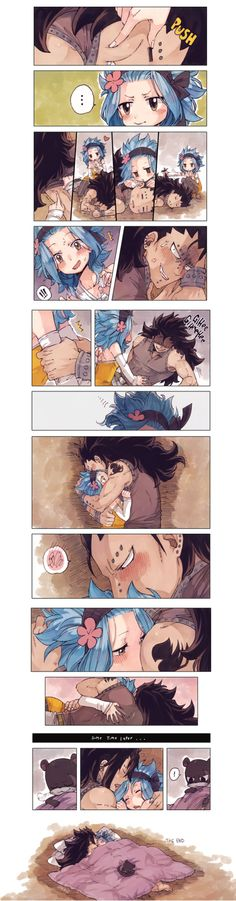 Gajeel loves to cuddle his smol woman