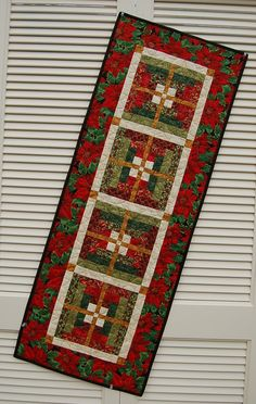 Table Runner Christmas Décor a Quilted Table by MyCottonandThread
