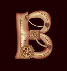 Metallic Alphabet Vector Art