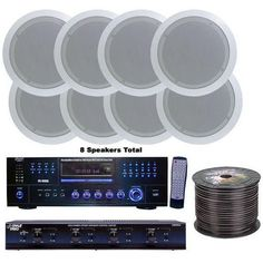 4 Room Home In-Ceiling Speakers W/DVD/MP3 Amp System