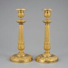 Par de casticais Franceses em bronze gilded a ouro do sec.19th, Empire, 26cm de altura, 2,960 USD / 2,650 EUROS / 10,590 REAIS / 8,890 CHINESE YUAN https://soulcariocantiques.tictail.com