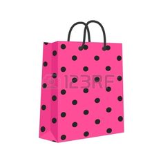 Blank Paper Shopping Bag avec poign es en corde Rose noir  Banque d'images