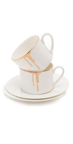 love it and it's gold, sweet | Gift Boutique Reiko Kaneko Drip Tease Mug Set
