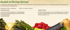 Radish & Shrimp Spread at http://www.miedemaproduce.com/