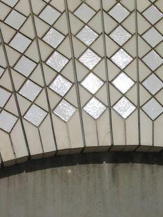 glazed ceramic tiles on Sydney Opera House, by Jørn Utzon