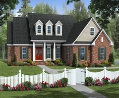 4 bedroom house plan pictures - HPG-2203B-1