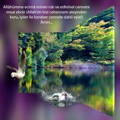 Allâhümme ecirnâ minen nâr ve edhılnel cennete meal ebrâr (Allah'ım bizi cehennem ateşinden koru, iyiler ile beraber cennete dahil eyle!) Âmin…