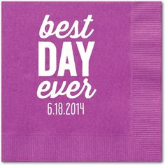 Finest Day - Personalized Napkins