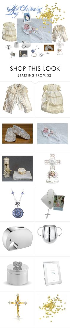 """My Christening Day"" by juliaheartfelt ❤ liked on Polyvore featuring Precious Moments, Georg Jensen, Christofle and Bling Jewelry"