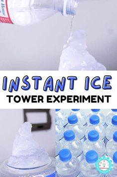 The instant ice tower works with the domino effect of science- nucleation! Learn how to make your own super cool ice tower with this fun science experiment. Elementary Science Experiments, Easy Science Projects, Stem Science, Stem Projects, Science For Kids, Steam Activities, Science Activities, Activities For Kids, Ice Shop