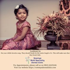 Paediatric Dentistry is a branch of dental science which deals with specialization in children's dental issues and oral problems. Sowmya Multi Speciality Dental Clinic has the best paediatric dentist in Guntur. Dental Hospital, Dental Kids, Pediatric Dentist, Pediatrics, Dentistry, Clinic, Flower Girl Dresses, Songs, Wedding Dresses