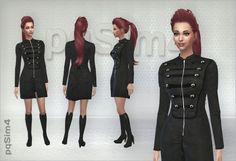 PQSims4: Set jacket and boots � Sims 4 Downloads