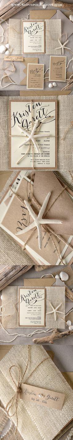 Starfish Wedding Invitations #beachwedding #destinationwedding #weddingideas