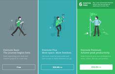 evernote web design vector illustration pricing plans