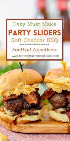 Looking for the sliders that everyone will devour? These are them! Perfect for party dish or for Sunday Night Football. These would be a hit at Super Bowl as well! Also these are wonderful for an easy healthy dinner. Enjoy this recipe however you see fit! No one will be disappointed :)