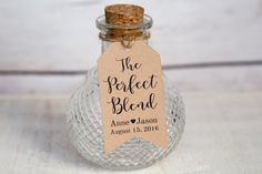 The Perfect Blend - Wedding Favor Tag Details