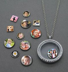 This complete variety pack kit makes twelve floating photo charms for you to mix and match in your included glass locket! Kit includes 30mm soft silver glass lo