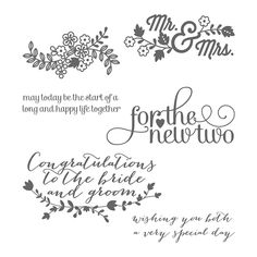 Stampin' Dolce: Leadership Artisan Samples 2015 - For the new two! Check out great wedding cards and scrapbook layouts with this stamp set!