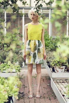 What's Inside You lemon dress by Eleonora Carisi #whatsinsideyou #ss14 #lemon