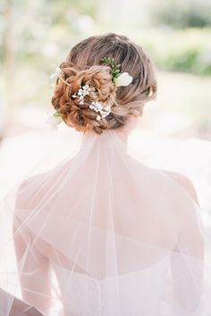 Romantic floral accented updo: http://www.stylemepretty.com/australia-weddings/western-australia-au/capel/2016/01/28/rustic-western-australia-wedding/ | Photography: Ben Yew - http://benyew.com/