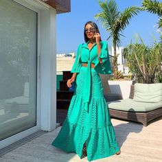 Load image into Gallery viewer, Fashion Lapel Collar Pagoda Sleeve Maxi Dress Suit Casual Dresses, Fashion Dresses, Formal Dresses, Maxi Dresses, Summer Outfits, Summer Dresses, Dress Suits, Maxi Dress With Sleeves, African Dress
