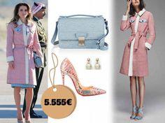 Esto es lo que cuesta la maleta que la reina Rania de Jordania se ha traído a España. Noticias de Casas Reales
