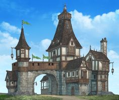 World building structure concept prison, guardhouse, keep, gatehouse. 017, Muel Kim