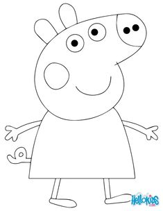 Princess peppa pig cake template google search food for Peppa pig cake template free