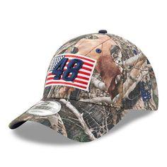 Men s New Era Camo Jimmie Johnson Flag 9FORTY Adjustable Hat 77850239f076