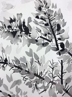 MAKING OF: Indian Ink Drawings — Superfolk Brush Drawing, Brush Pen, Drawing Frames, Tinta China, Ink Wash, Ink Drawings, India Ink, Japanese Painting, Pen Art