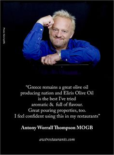 We're so honoured to receive such a wonderful critique from renowned Chef Antony Worrall Thompson MOGB www.awtrestaurants.com
