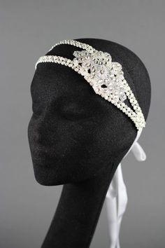 Austrian crystal double layered headband