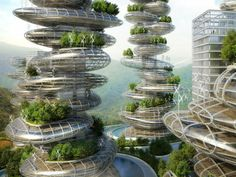 Vincent Callebaut Unveils Stacked Pebble-Inspired Eco-Farmscrapers for Shenzhen