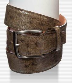 Grigiorosso - Cintura uomo in pelle di pesce lupo www.grigiorosso.com
