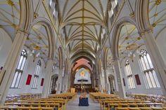 Interior of Blackburn Cathedral, Lamcashire, England