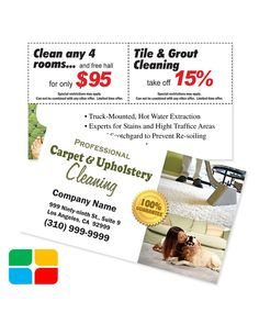 Carpet Cleaning Flyer A I Did On Spec For Local