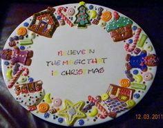 Believe in the magic...gingerbread cookie platter by Kerri Askin