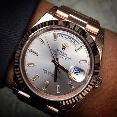 DAY DATE 40 with beautiful sundust dial Ref 228235 | http://ift.tt/2cBdL3X shares Rolex Watches collection #Get #men #rolex #watches #fashion