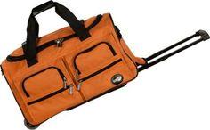 "Rockland Luggage 22"" Rolling Duffle Bag Orange - via eBags.com!"