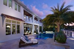 Private Residence in British Colonial style traditional pool