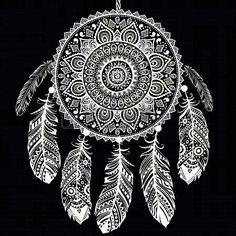 Mandala & Feathers