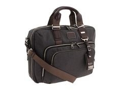 Tumi Alpha Bravo - Yuma Slim Briefcase Anthracite - Zappos.com Free $345.00  5 stars.  Zippered expansion section.