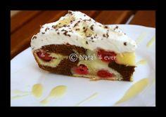 Amarelle and eggnog cake