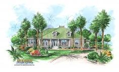 Olde Florida Floor Plan - Cape Sabal Home Plan