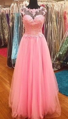 Fashion Applique Prom Dresses, Long Formal Dress SP2081