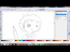 Tutorial, lineart en Inkscape (lineas, delineado de un dibujo) - YouTube