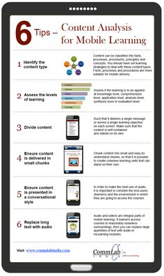 6 Tips to Analyze Content for Mobile Learning Development – An Infographic #elearning #edtech