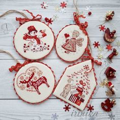 How to Make Stylish Pin Keeper Christmas Decorations with Embroidered Elements – a free tutorial on the topic: Interior Decoration ✓DIY ✓Steps-By-Step ✓With photos Cross Stitch Christmas Stockings, Xmas Cross Stitch, Christmas Cross, Cross Stitching, Cross Stitch Embroidery, Cross Stitch Patterns, Xmas Ornaments, Christmas Decorations, Cross Stitch Tutorial
