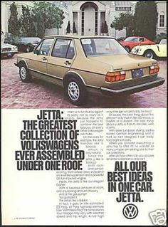 VW Volkswagen Jetta (1981). This is what I learned to drive on all those years ago. My love affair with VW has been a long one!