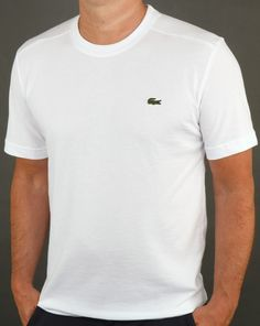 Lacoste T-shirt White,tee,crew neck,sport,mens
